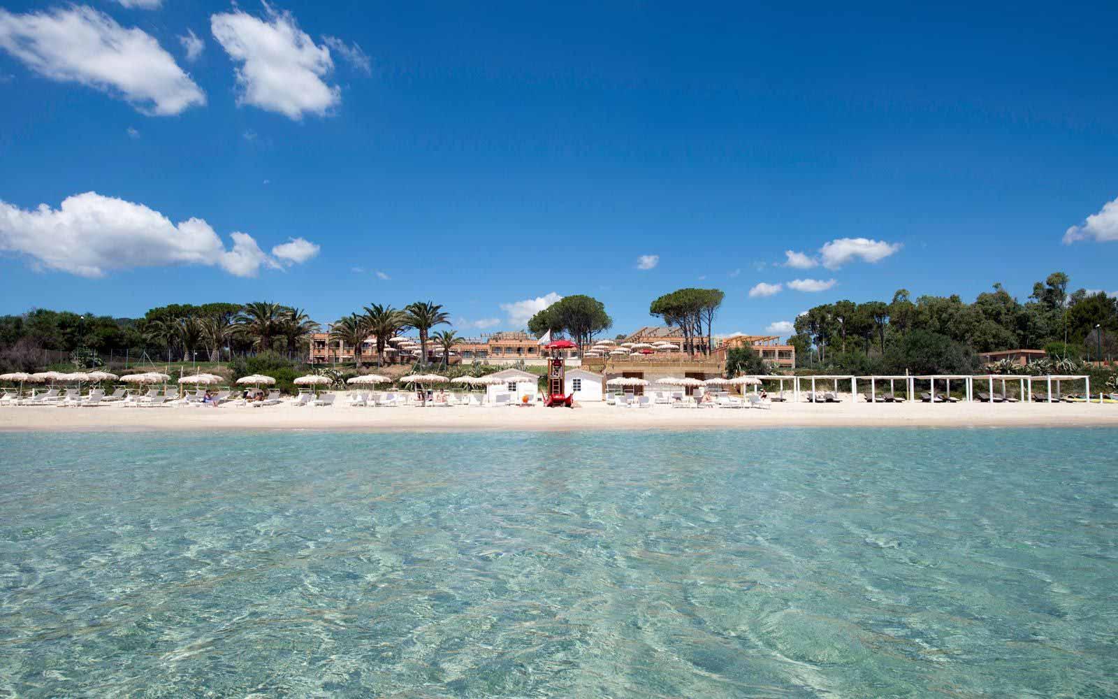 Beach at the Hotel Villa del Re