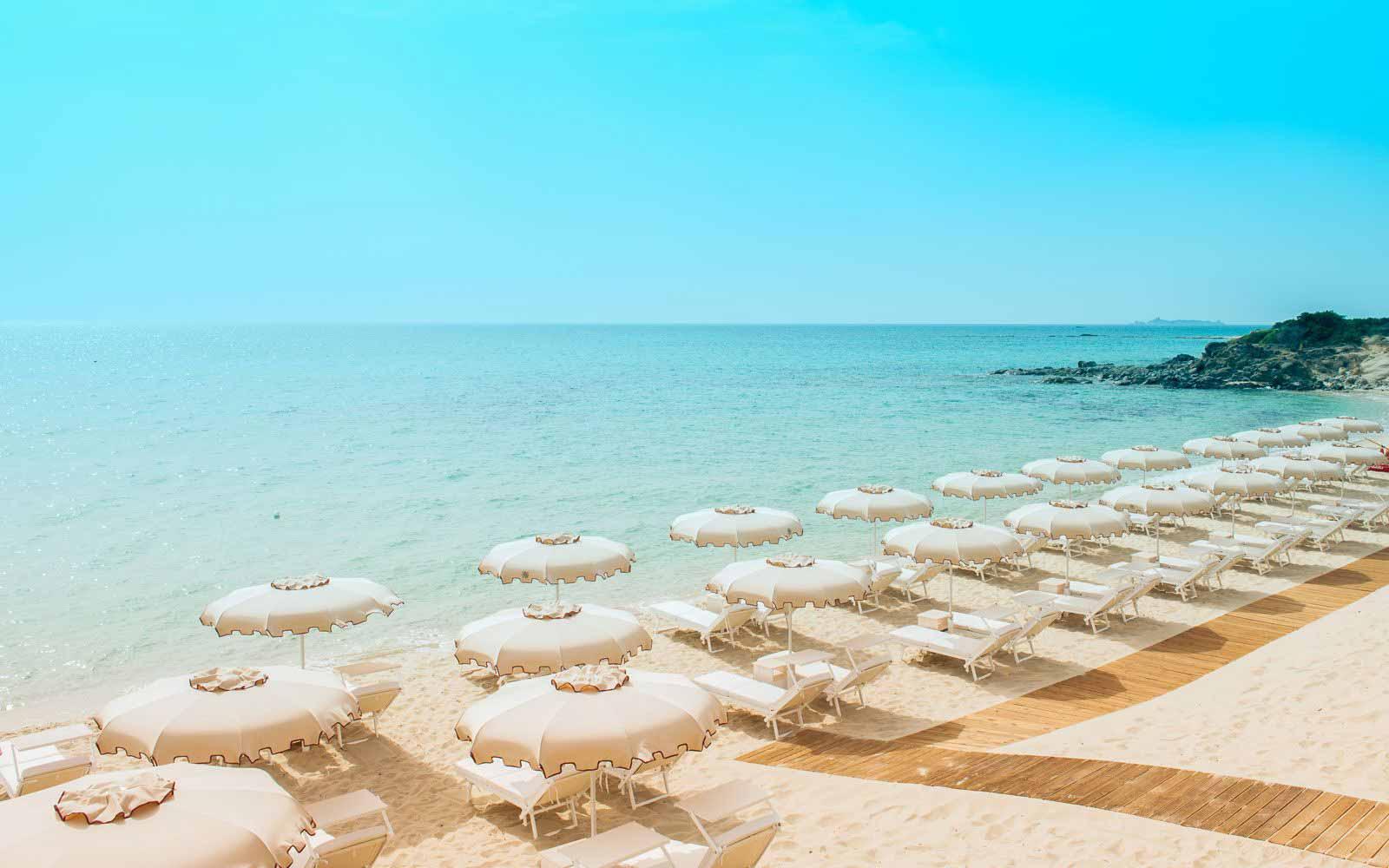 Private Beach at the Hotel Villa del Re