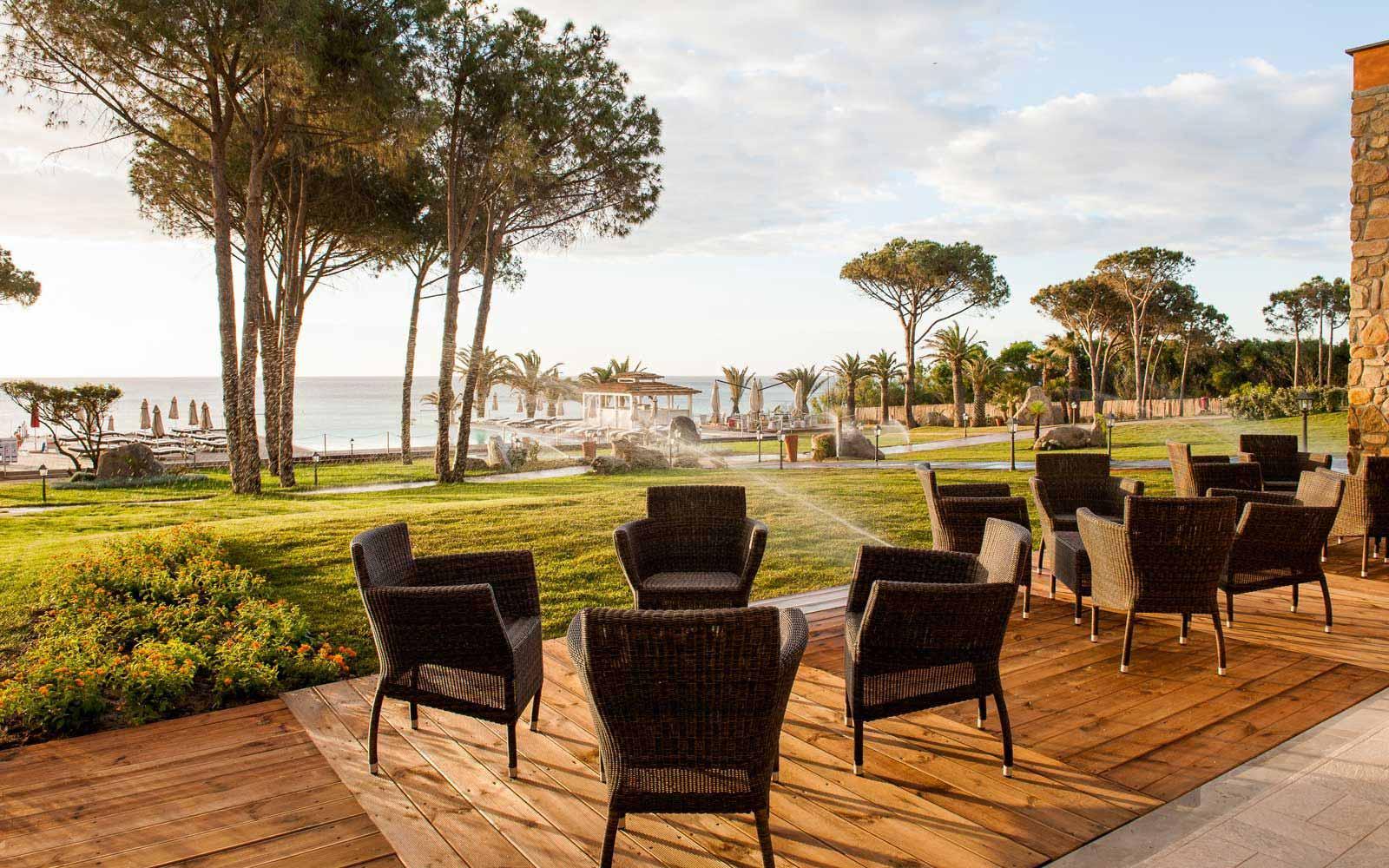 Garden Bar at the Hotel Villa del Re