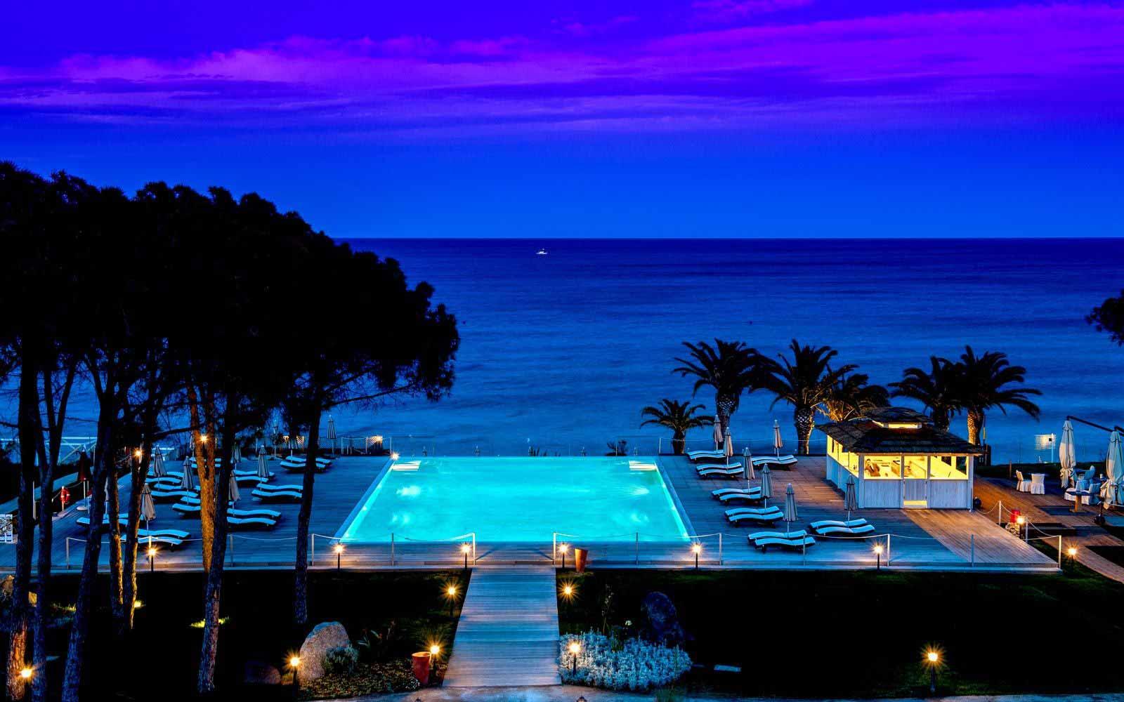 Hotel Villa del Re by night