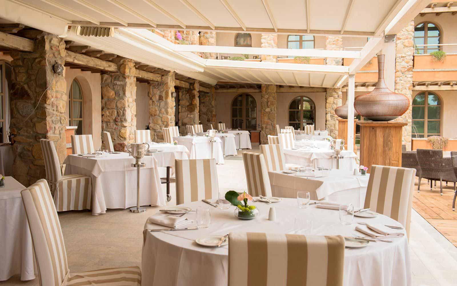 Restaurant at the Hotel Villa del Re
