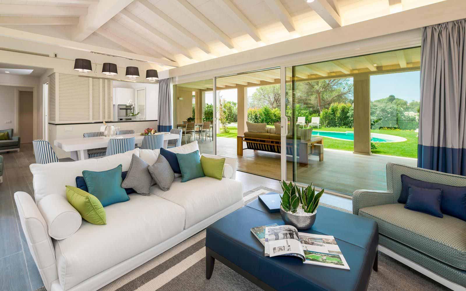 Villa Yasmine living room at Forte Village Resort