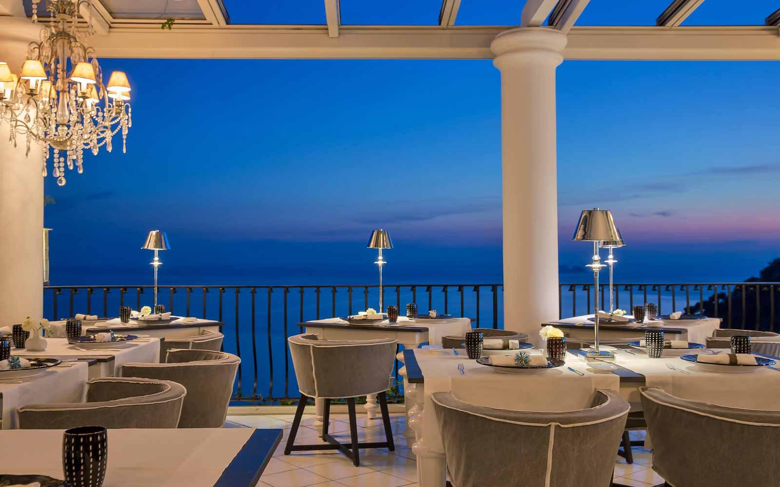 Li Galli Gourmet Restaurant at Hotel Villa Franca
