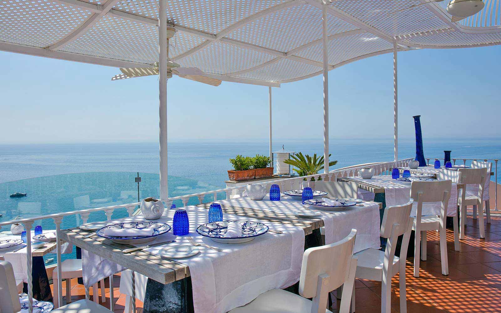 Panoramic restaurant at Hotel Villa Franca