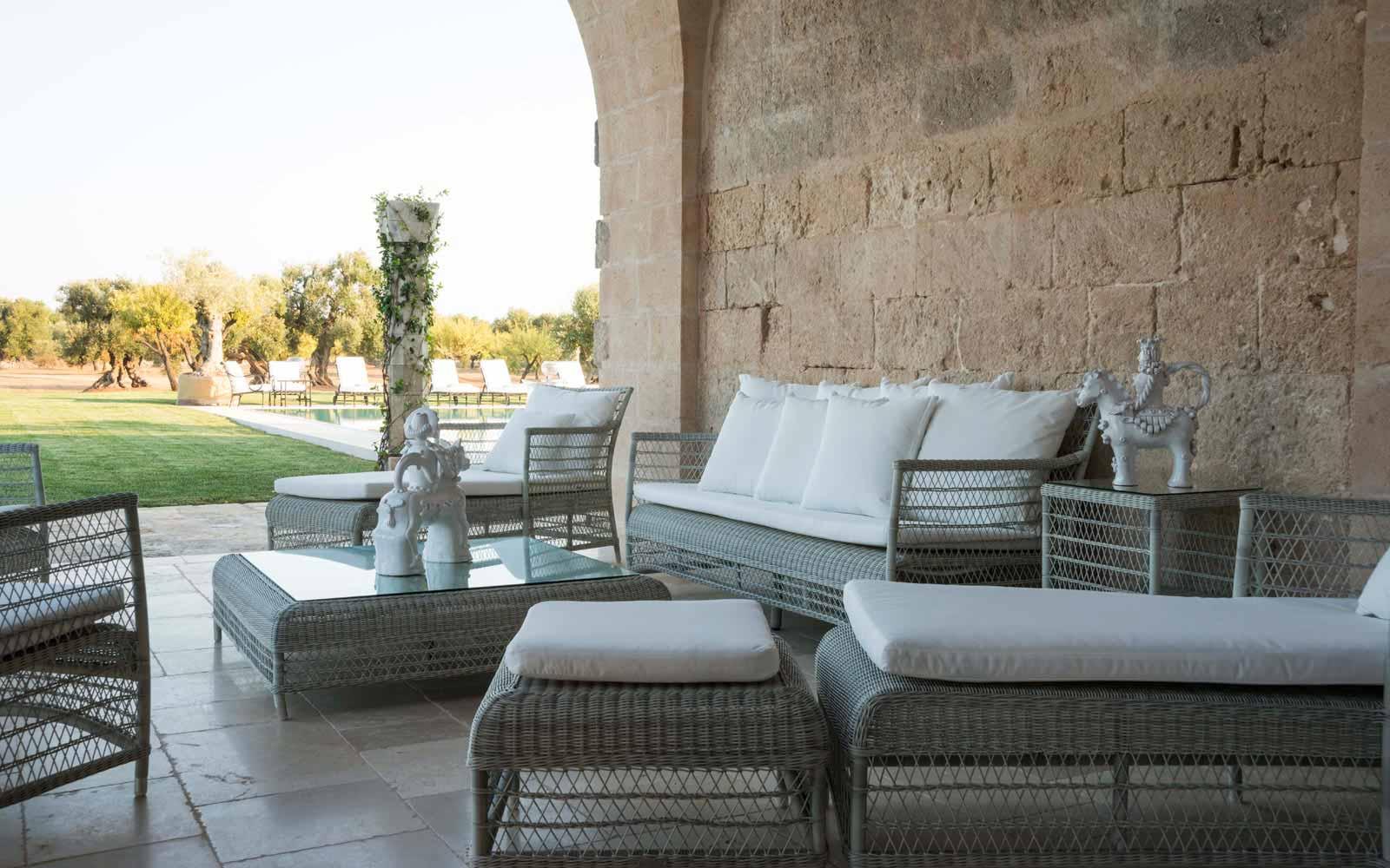 Relax area at La Residenza of Masseria Pettolecchia