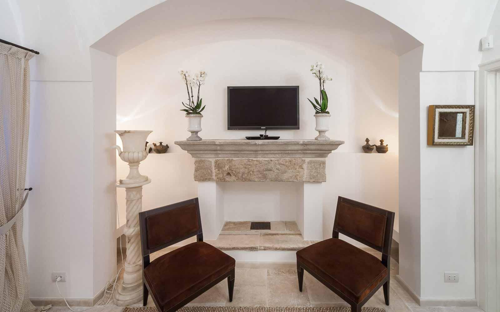 Interior at La Residenza of Masseria Pettolecchia