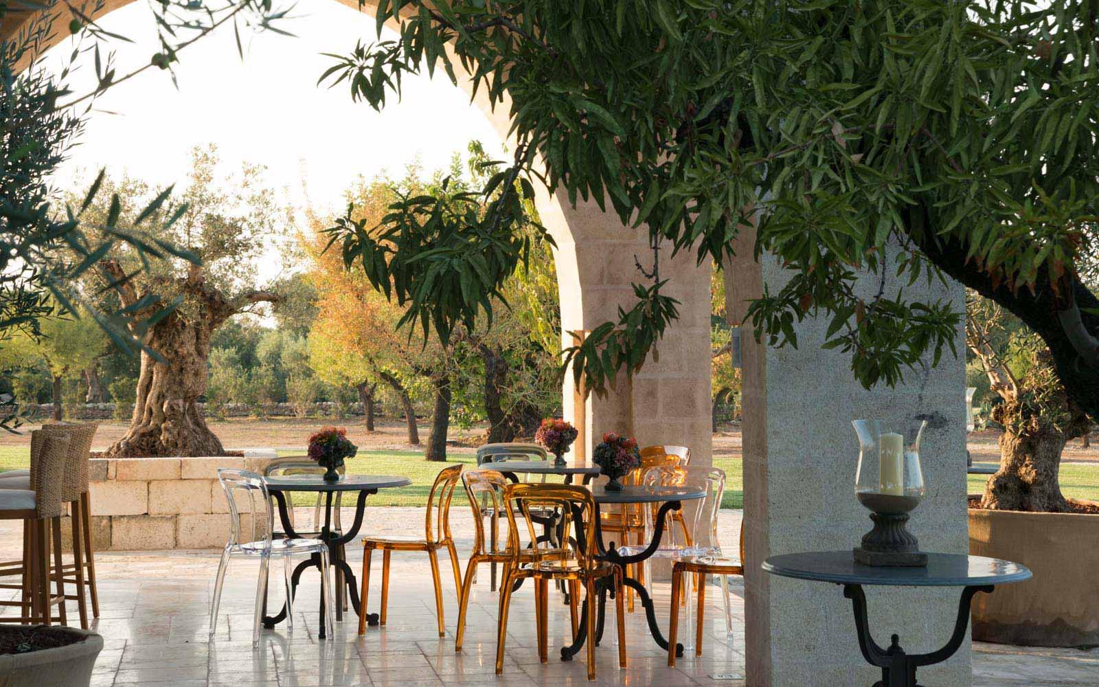Porch at La Residenza of Masseria Pettolecchia