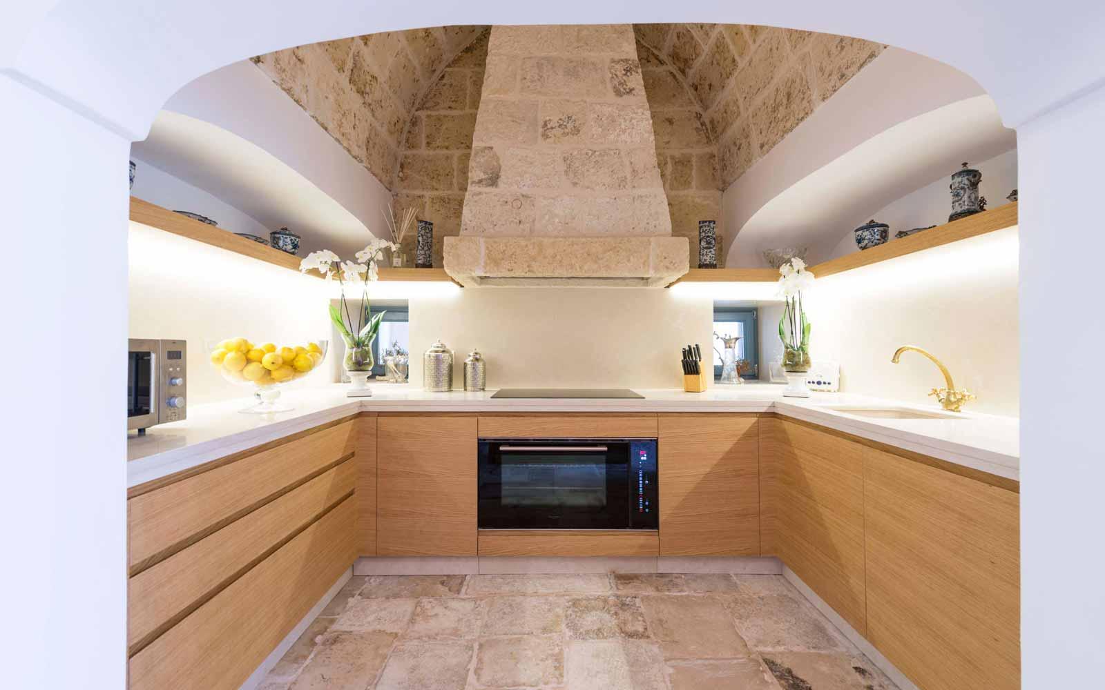 Kitchen at La Residenza of Masseria Pettolecchia