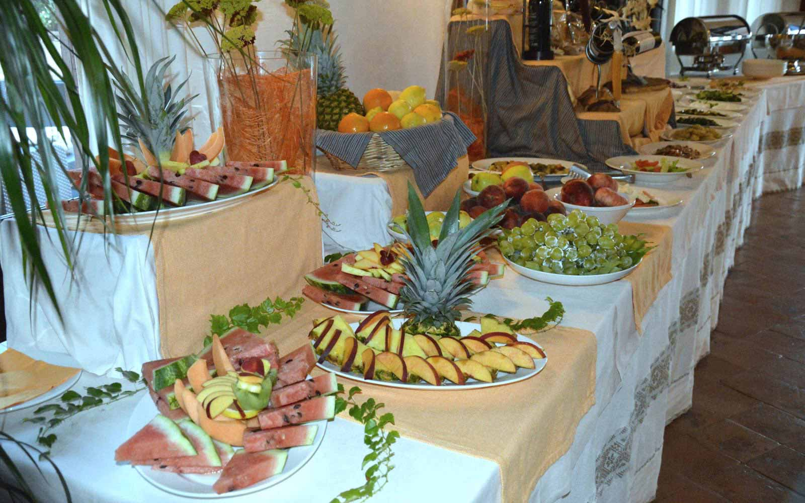 Buffet at Galanias Hotel