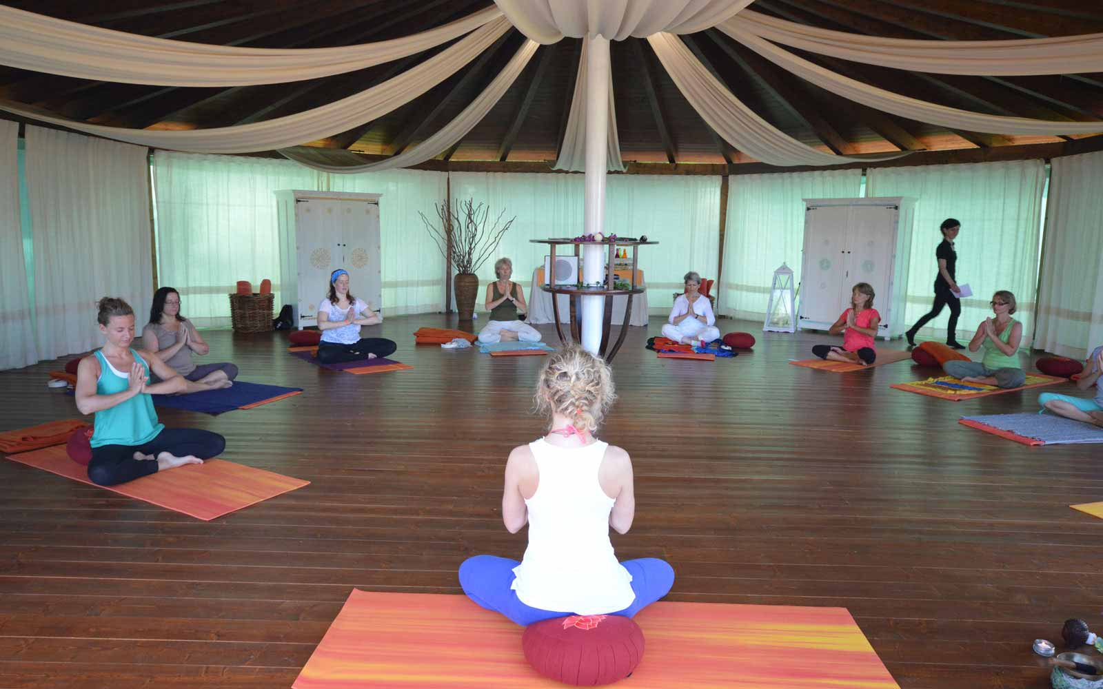 Yoga classes at Galanias Hotel