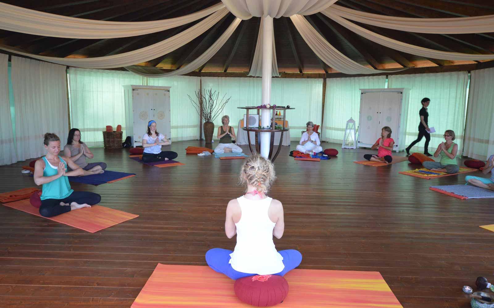 Yoga classes at Galanias Hotel