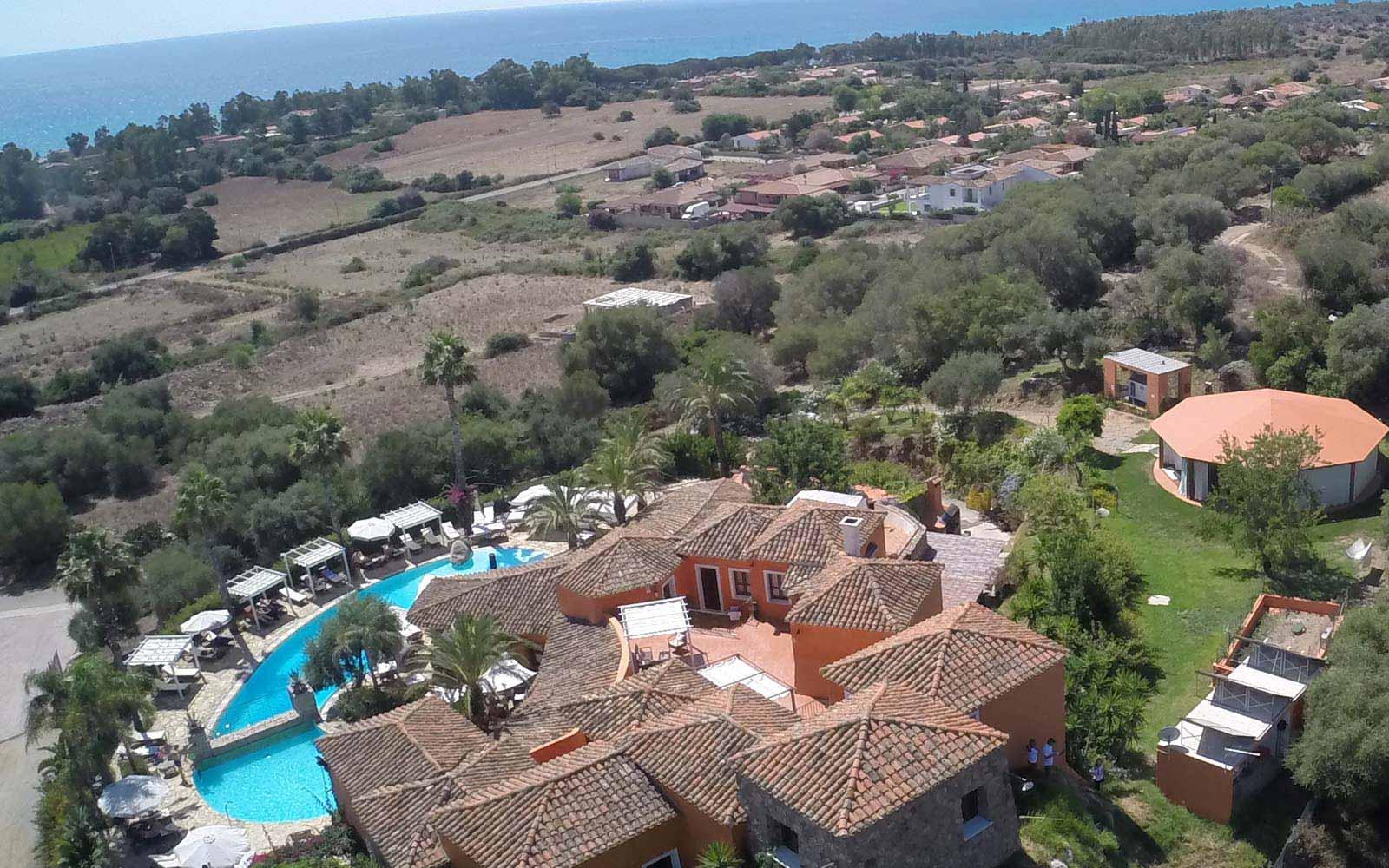 Galanias Hotel aerial view