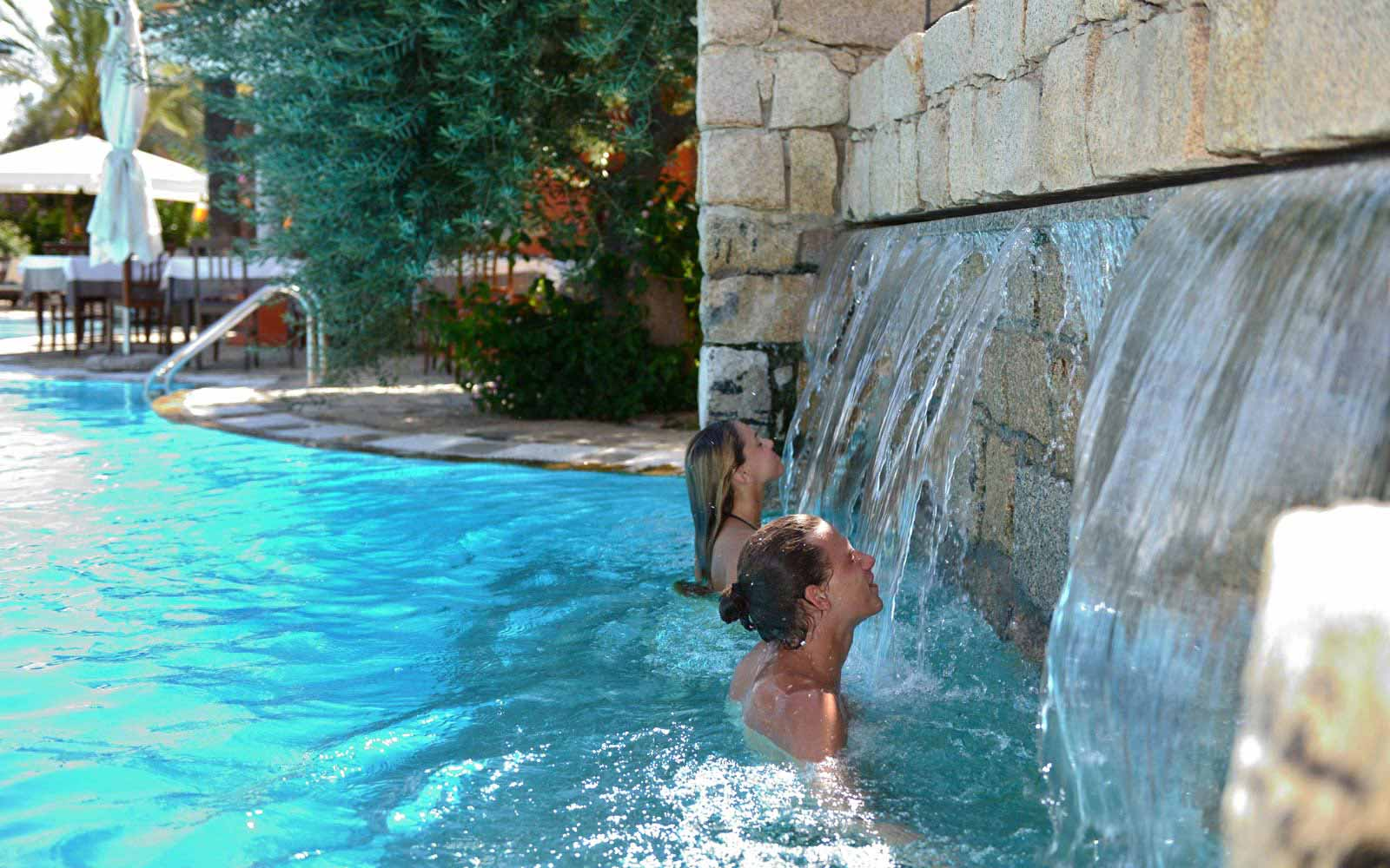 Swimming pool hydrojets at Galanias Hotel