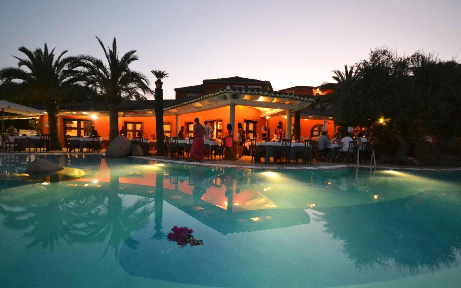 Galanias Hotel at night