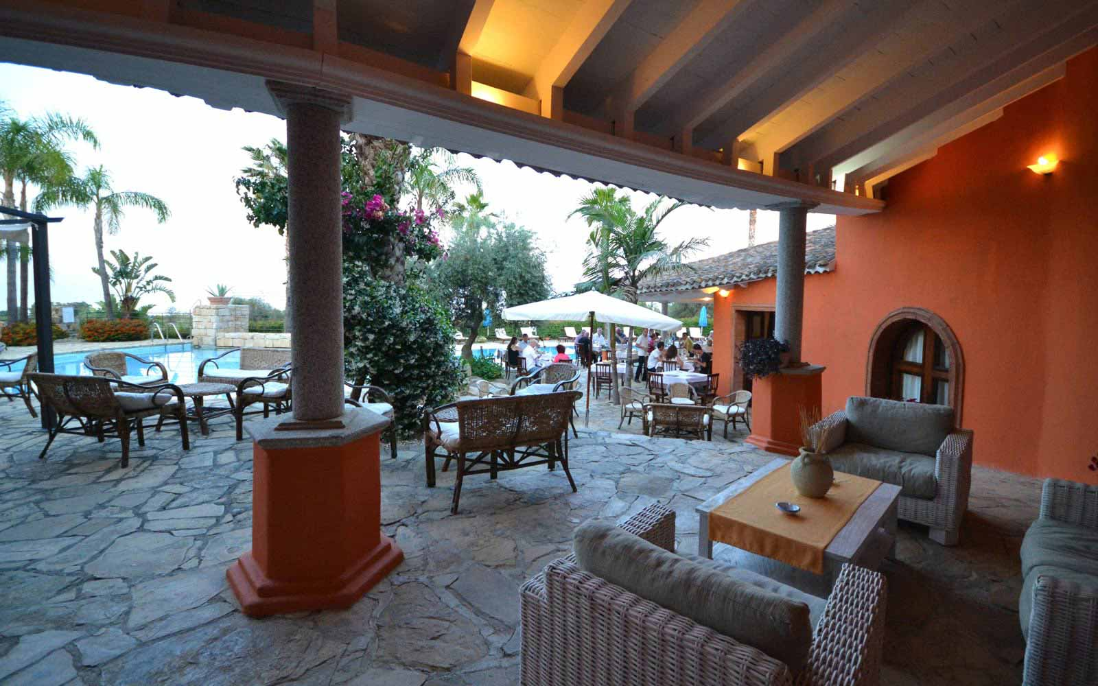 External relax area at Galanias Hotel