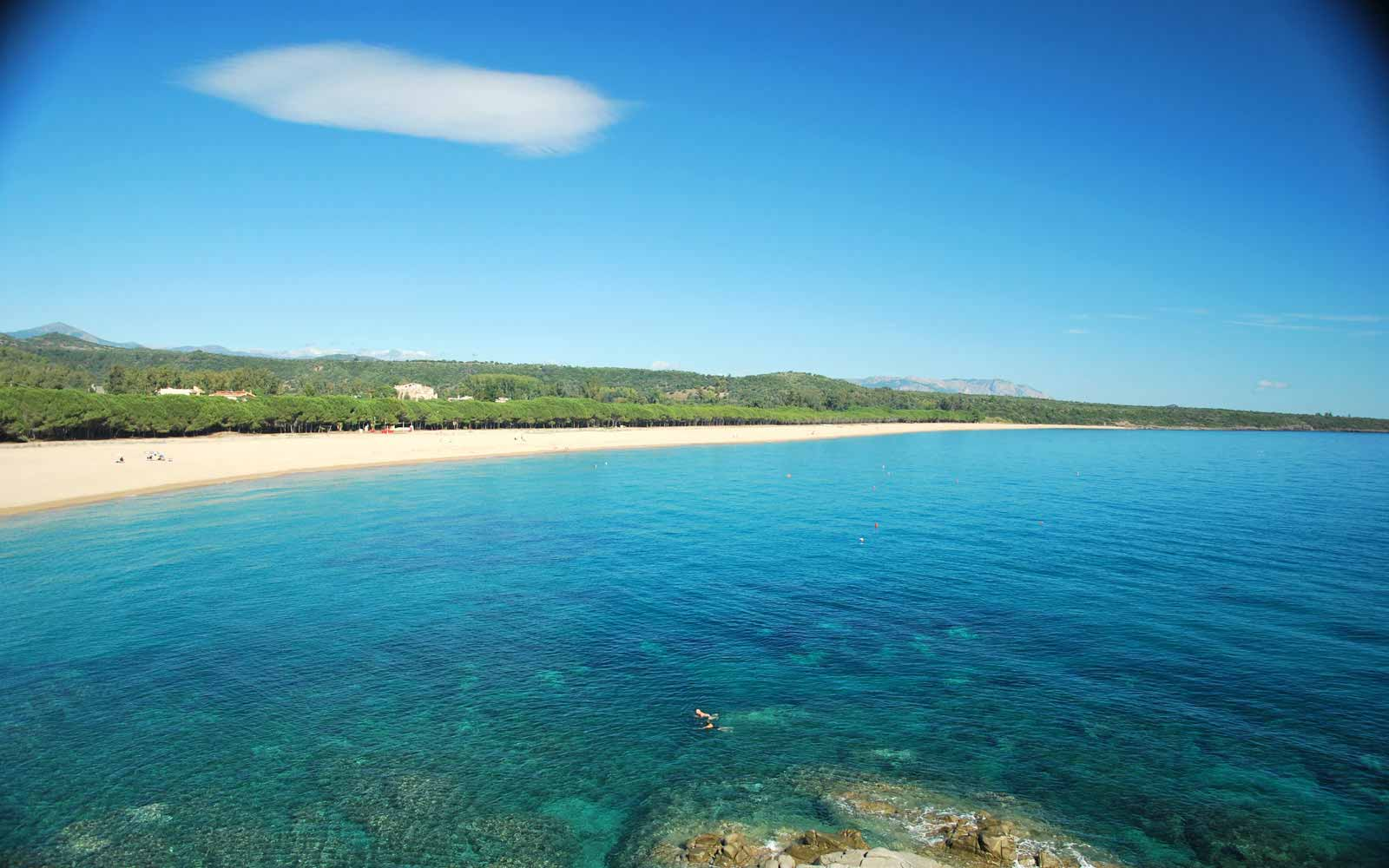 Beach close to Galanias Hotel