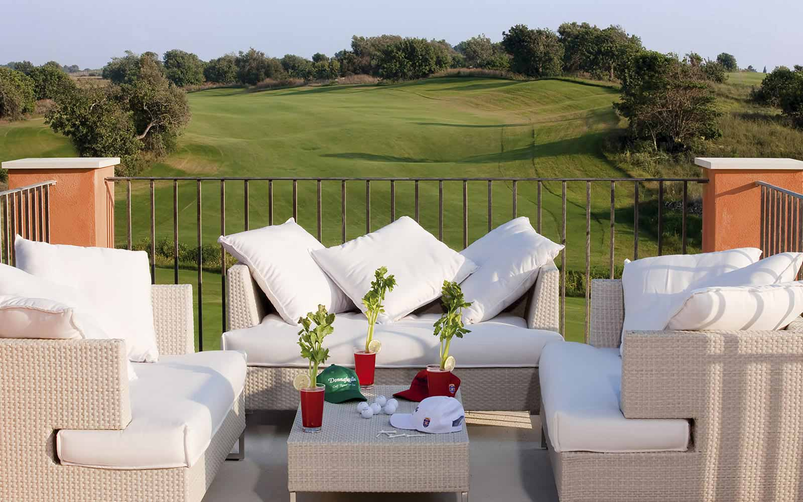 Sunset terrace bar at Donnafugata Golf Resort & Spa