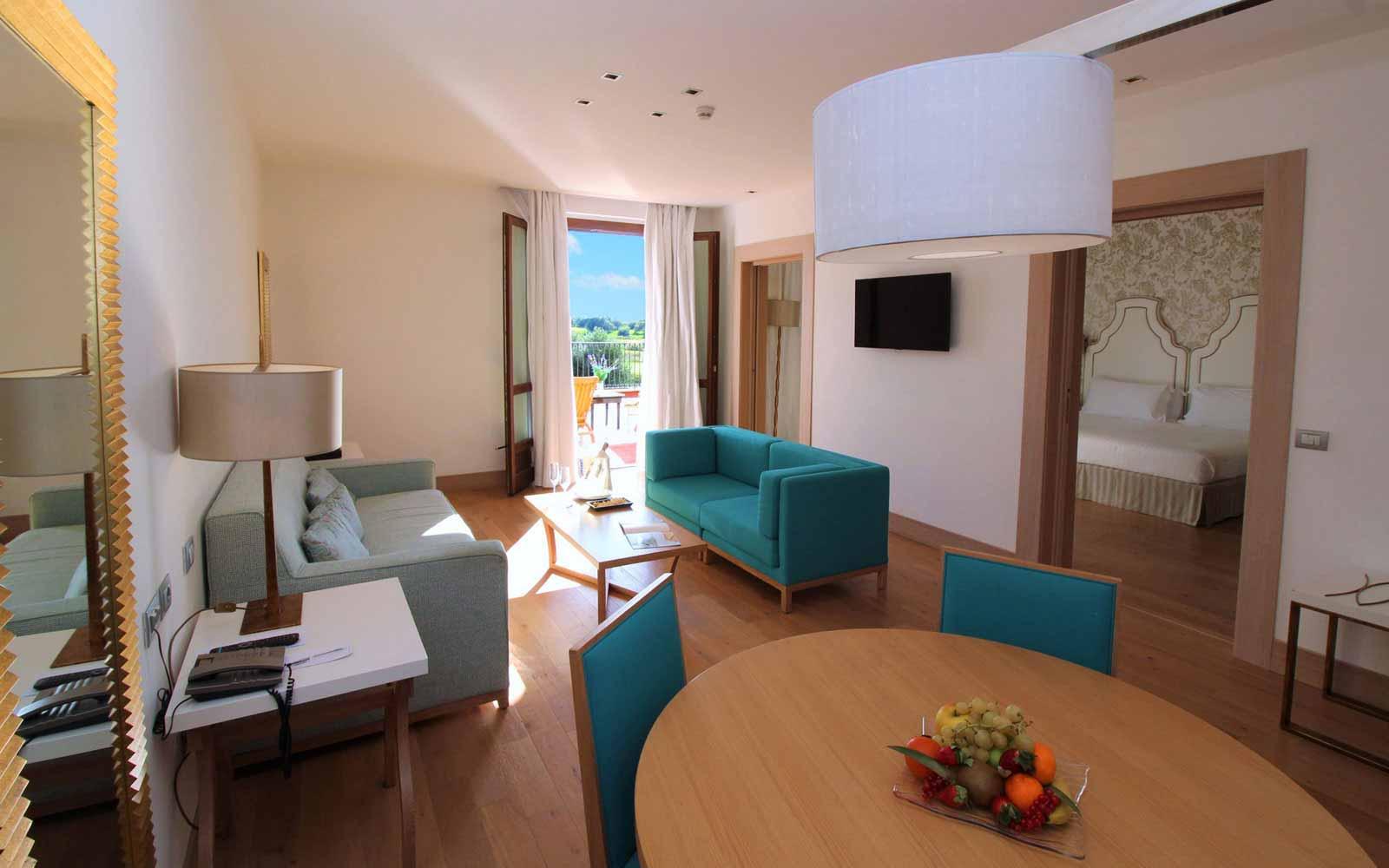Terrace suite living room at Donnafugata Golf Resort & Spa