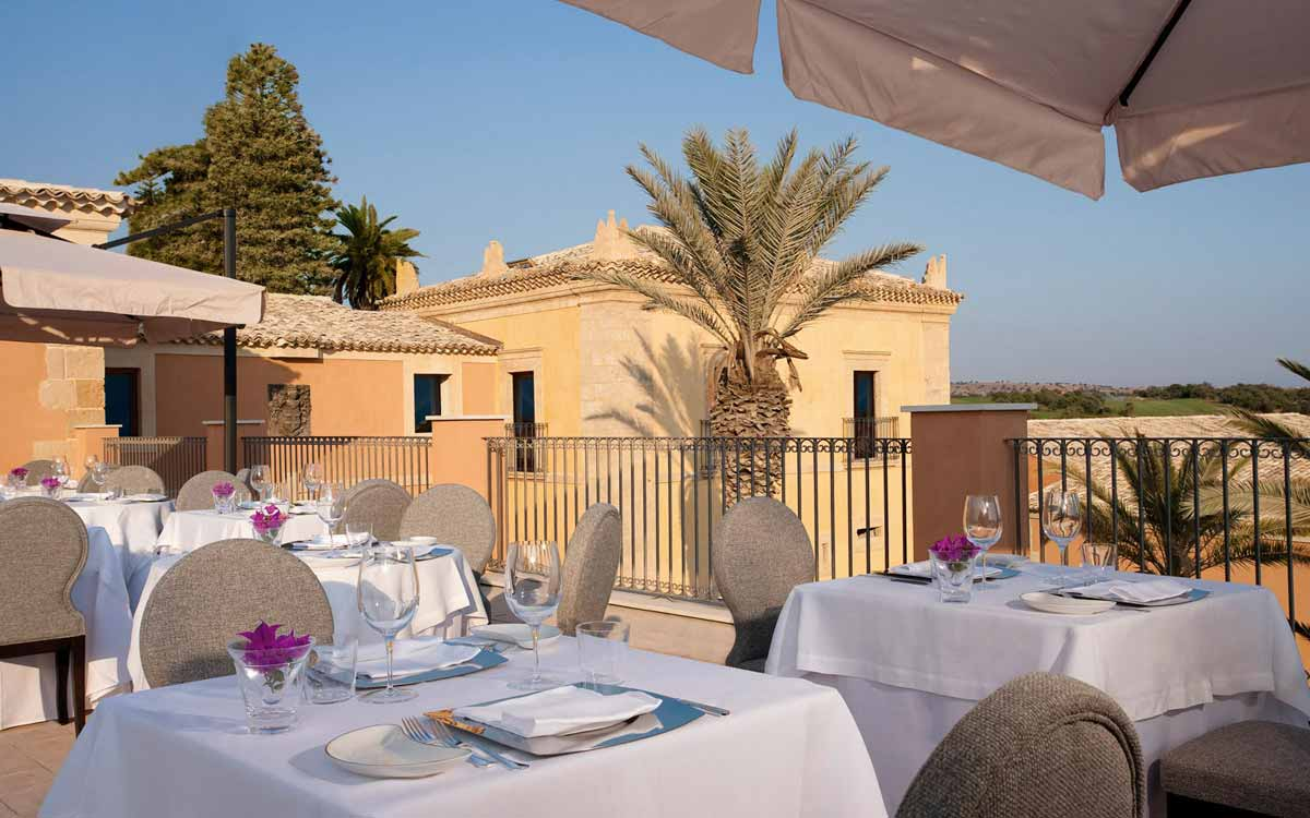 Il Carrubo restaurant at Donnafugata Golf Resort & Spa