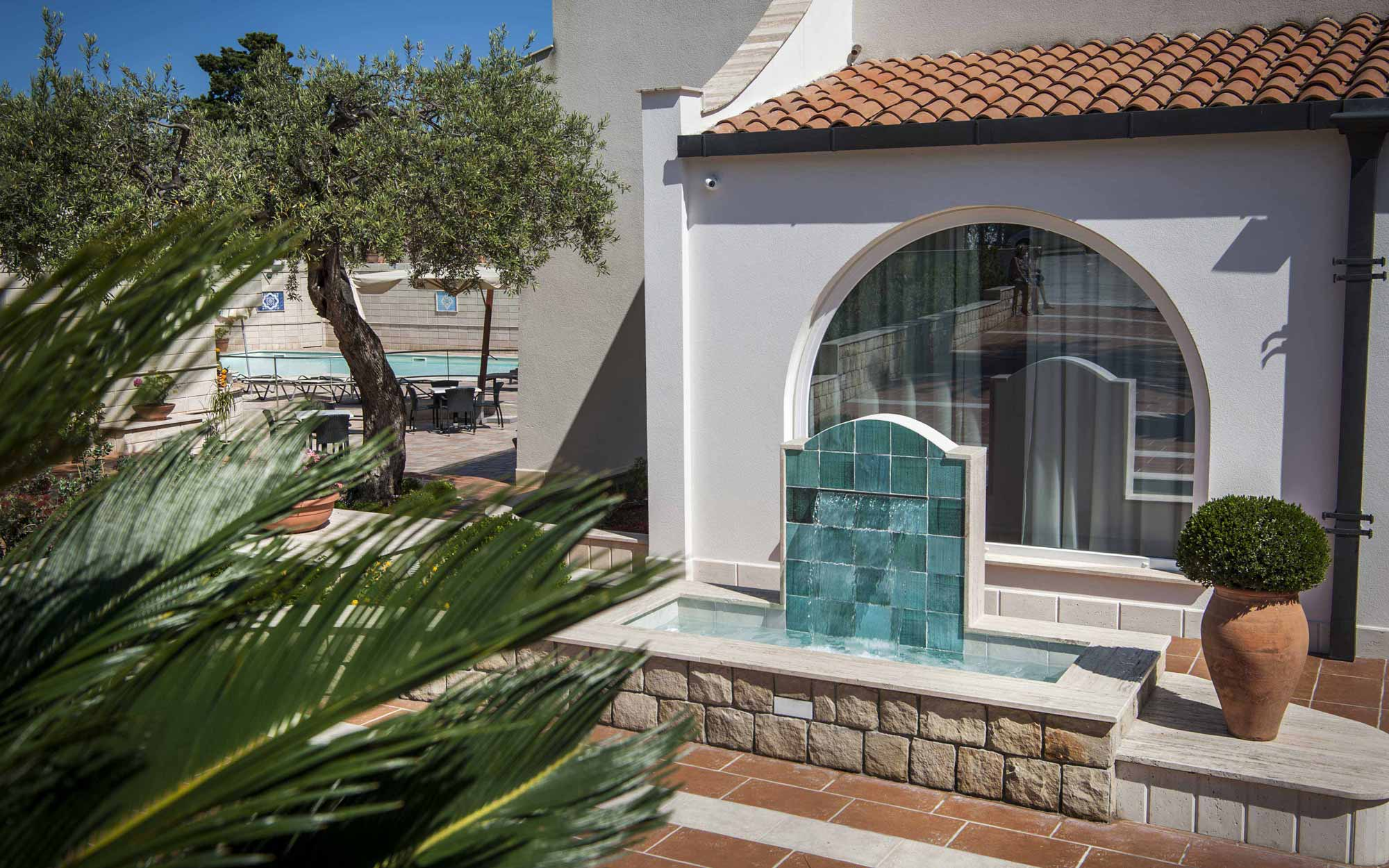 Decorative Fountain at Baia del Capitano