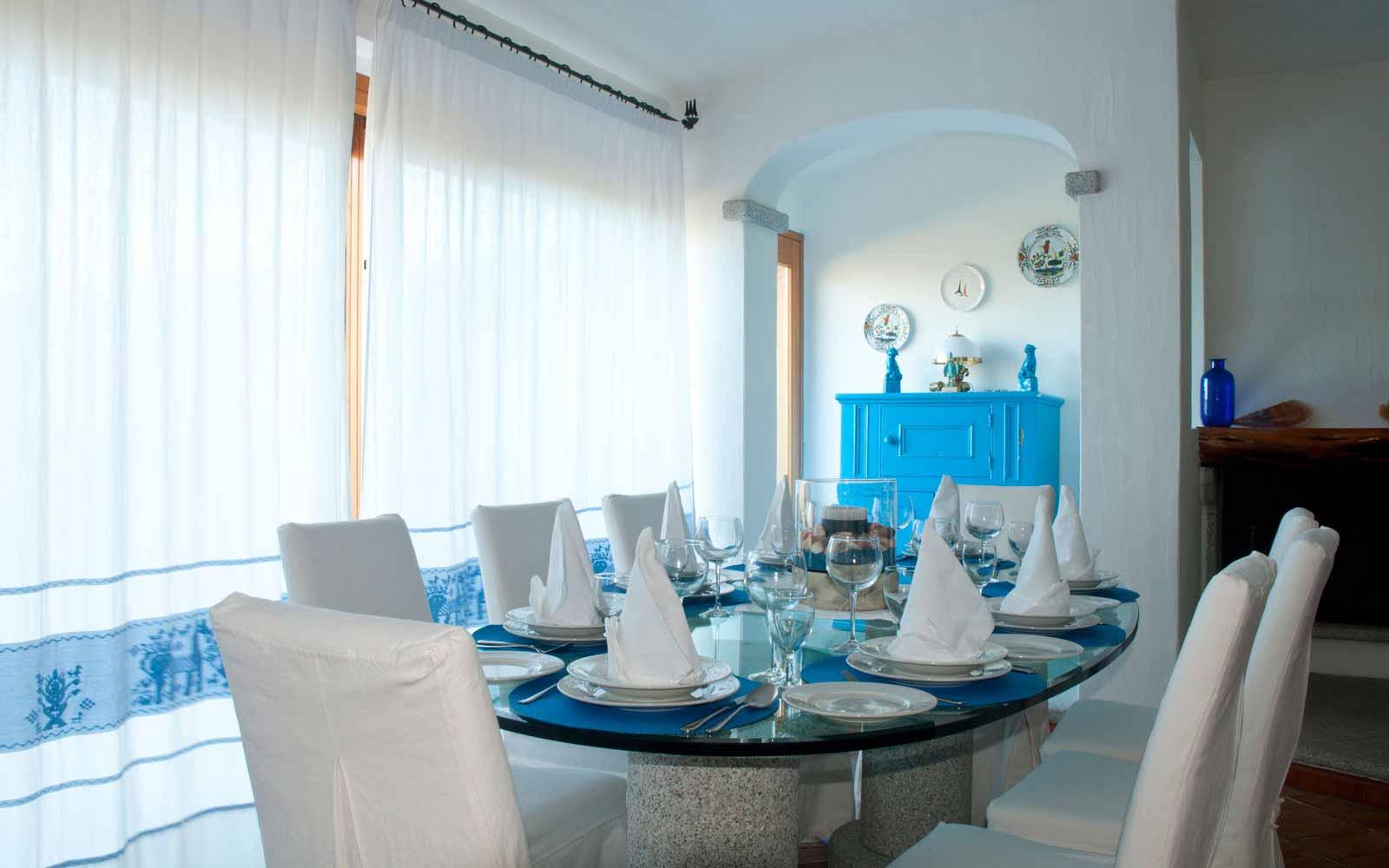 Dining area at Villa Pedrabianca
