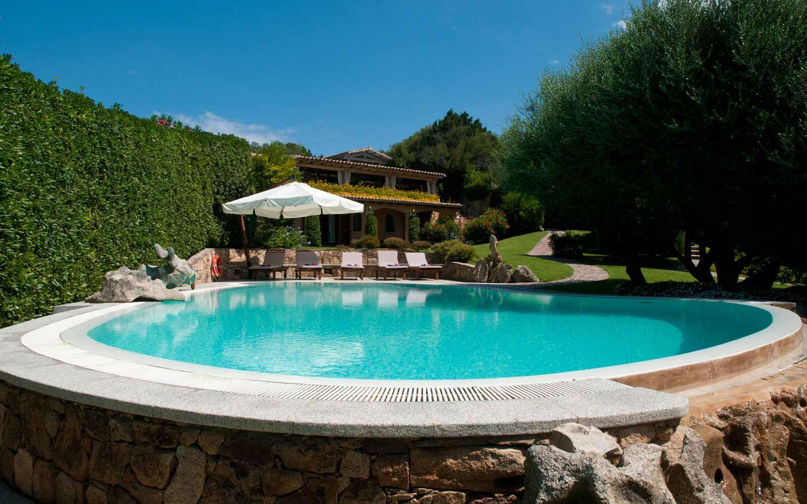 Swimming pool at Villa Pedrabianca