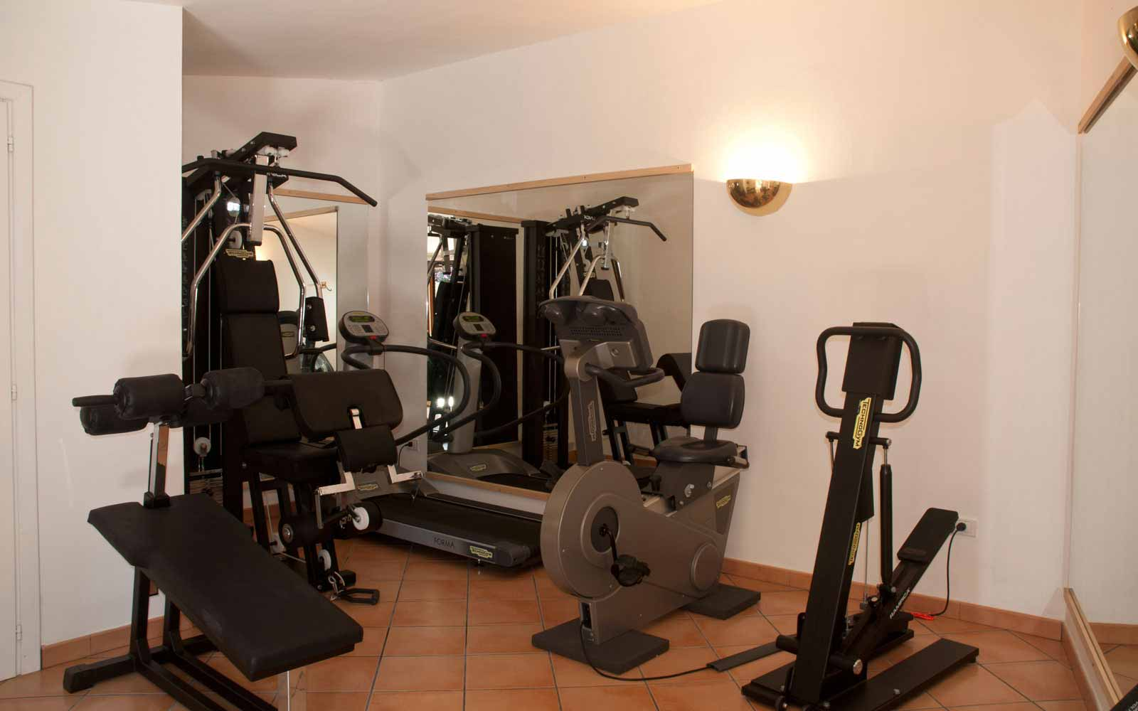 Gym facility at Villa Pedrabianca