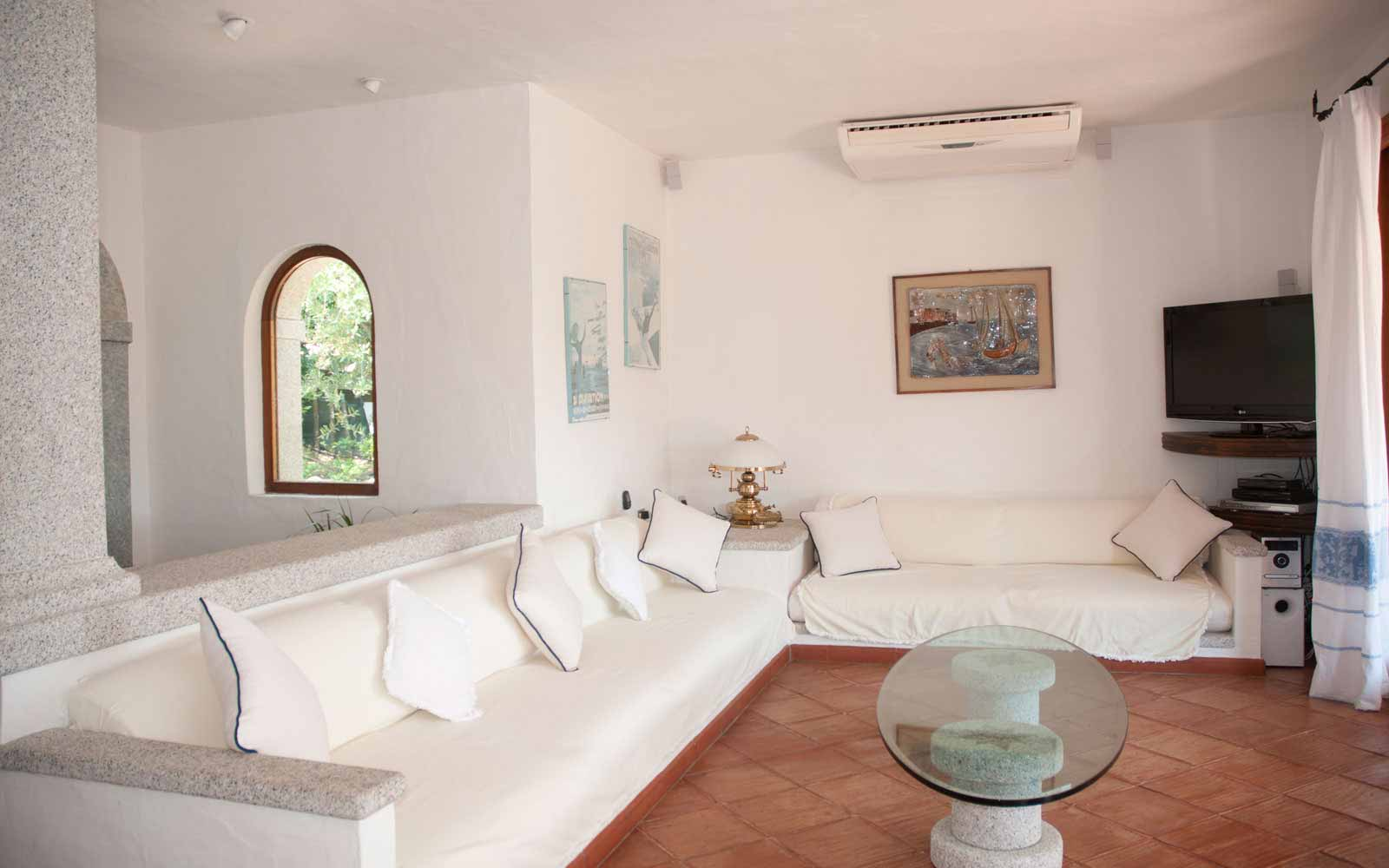 Lounge area at Villa Pedrabianca