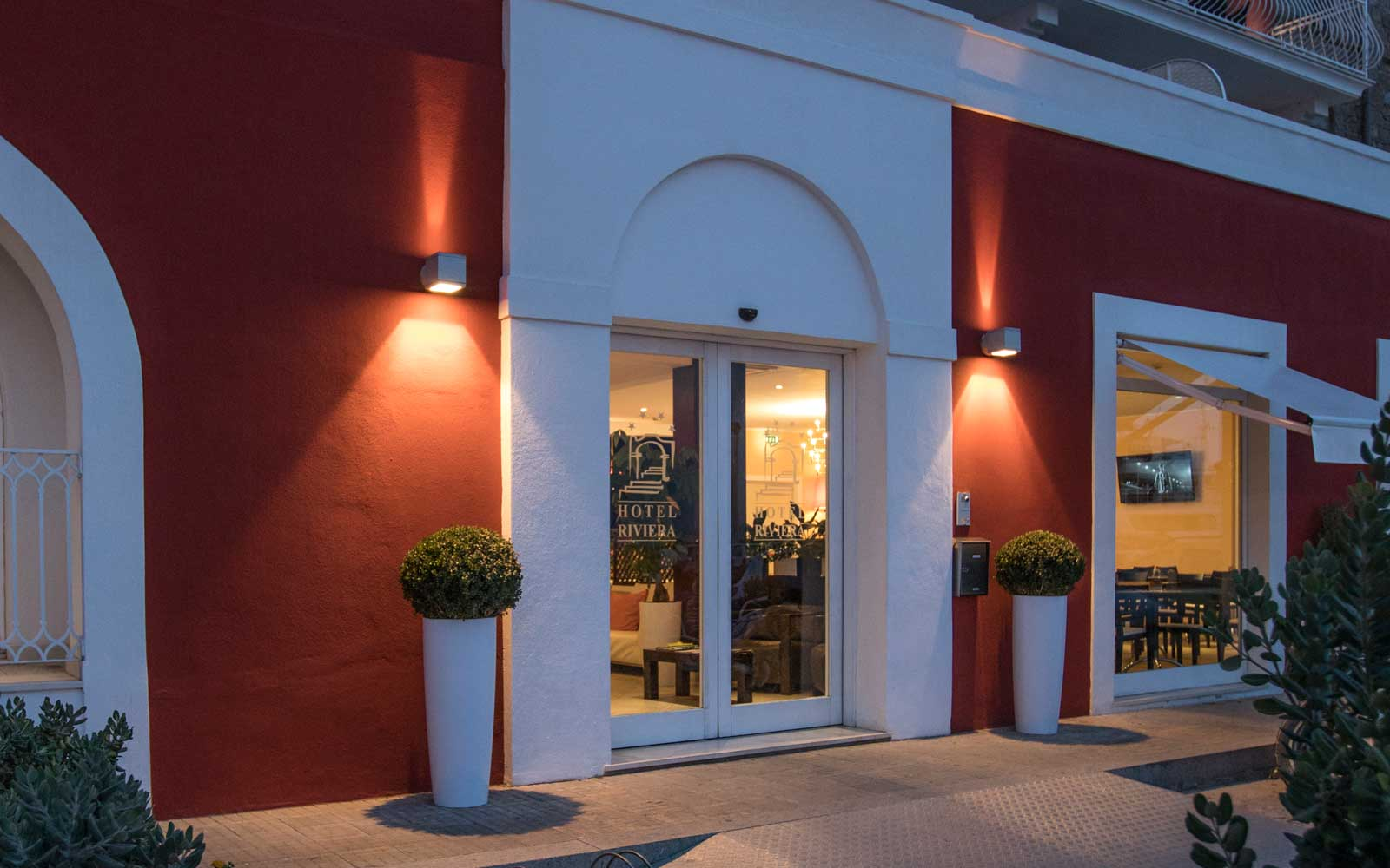 Entrance at Hotel Riviera