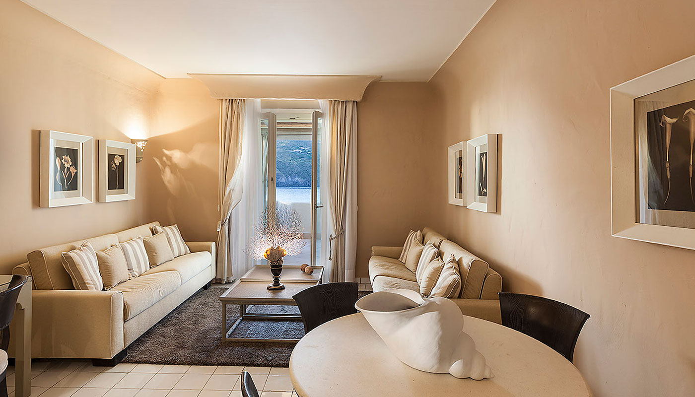 Stromboli Suite Lounge Area at Therasia Resort & Spa