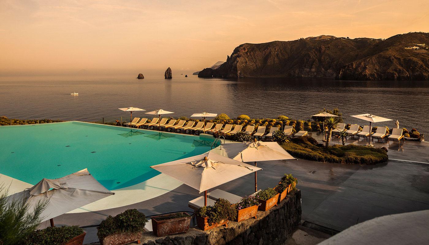 Sun Loungers at Therasia Resort & Spa