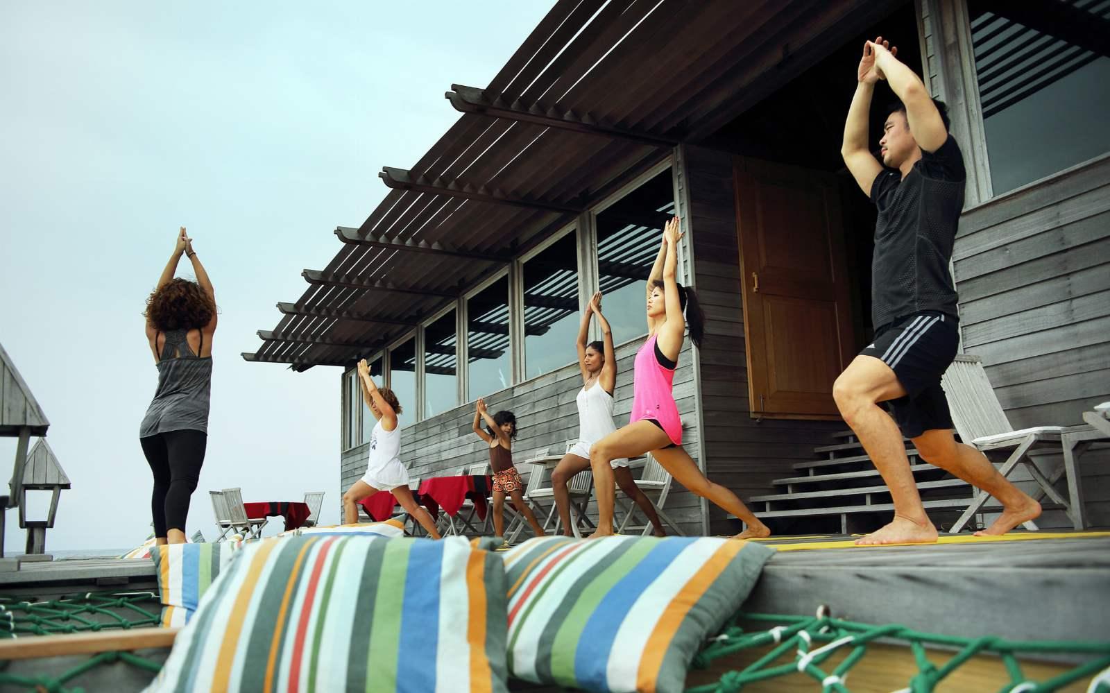 Yoga at Gangehi Resort