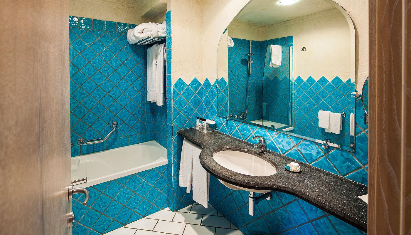 Classic Room Bathroom at Therasia Resort & Spa