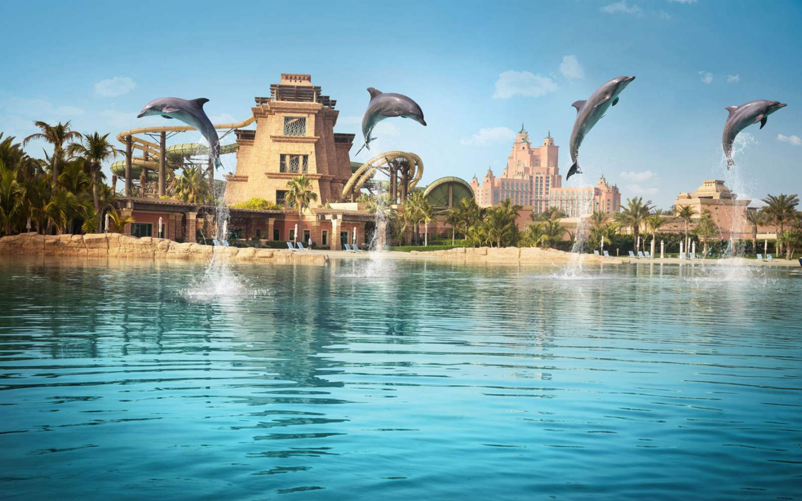 Atlantis, The Palm - Dolphin Jumping