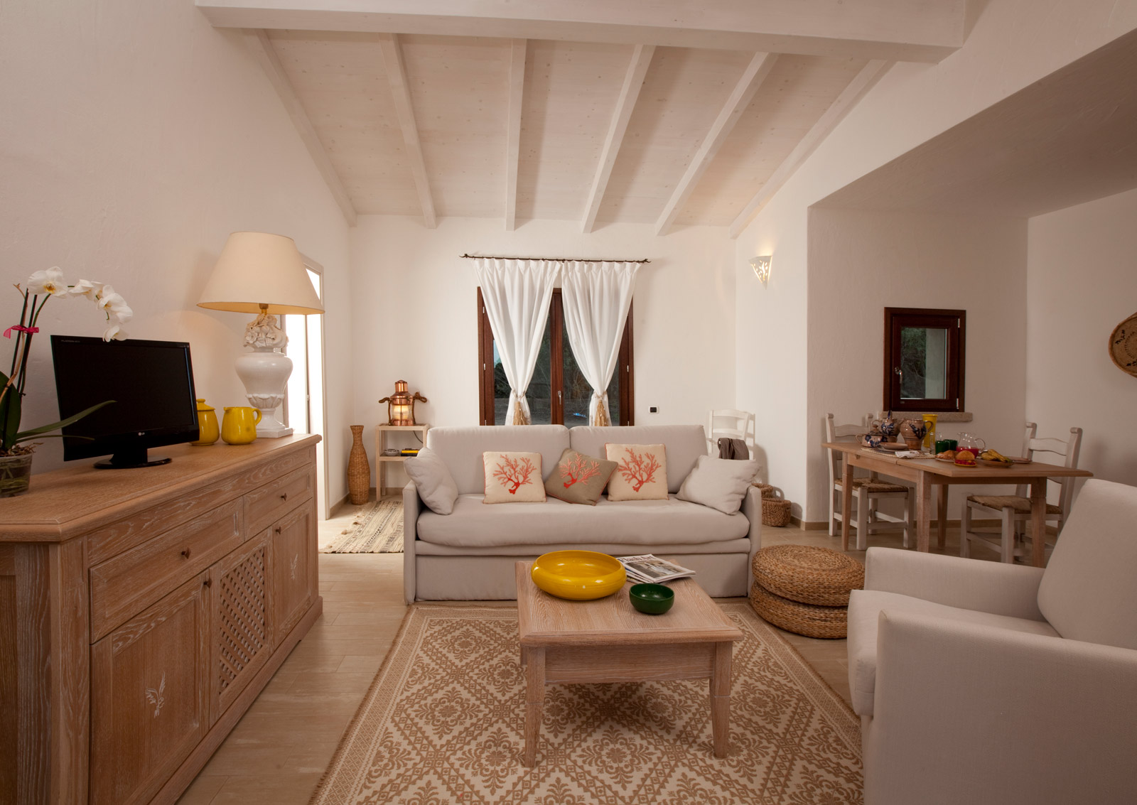 Punta Falcone Resort Apartment Living Room