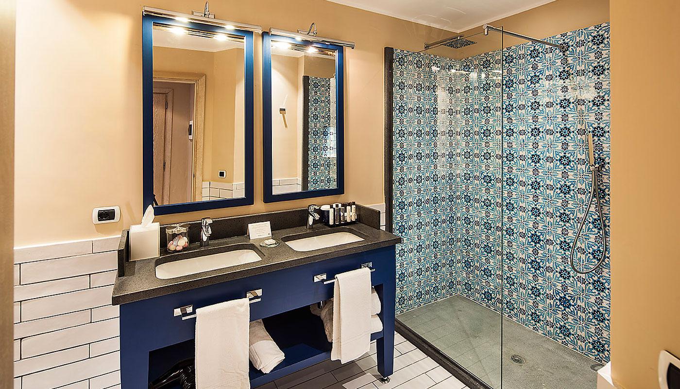 Junior Suite Bathroom at Therasia Resort & Spa