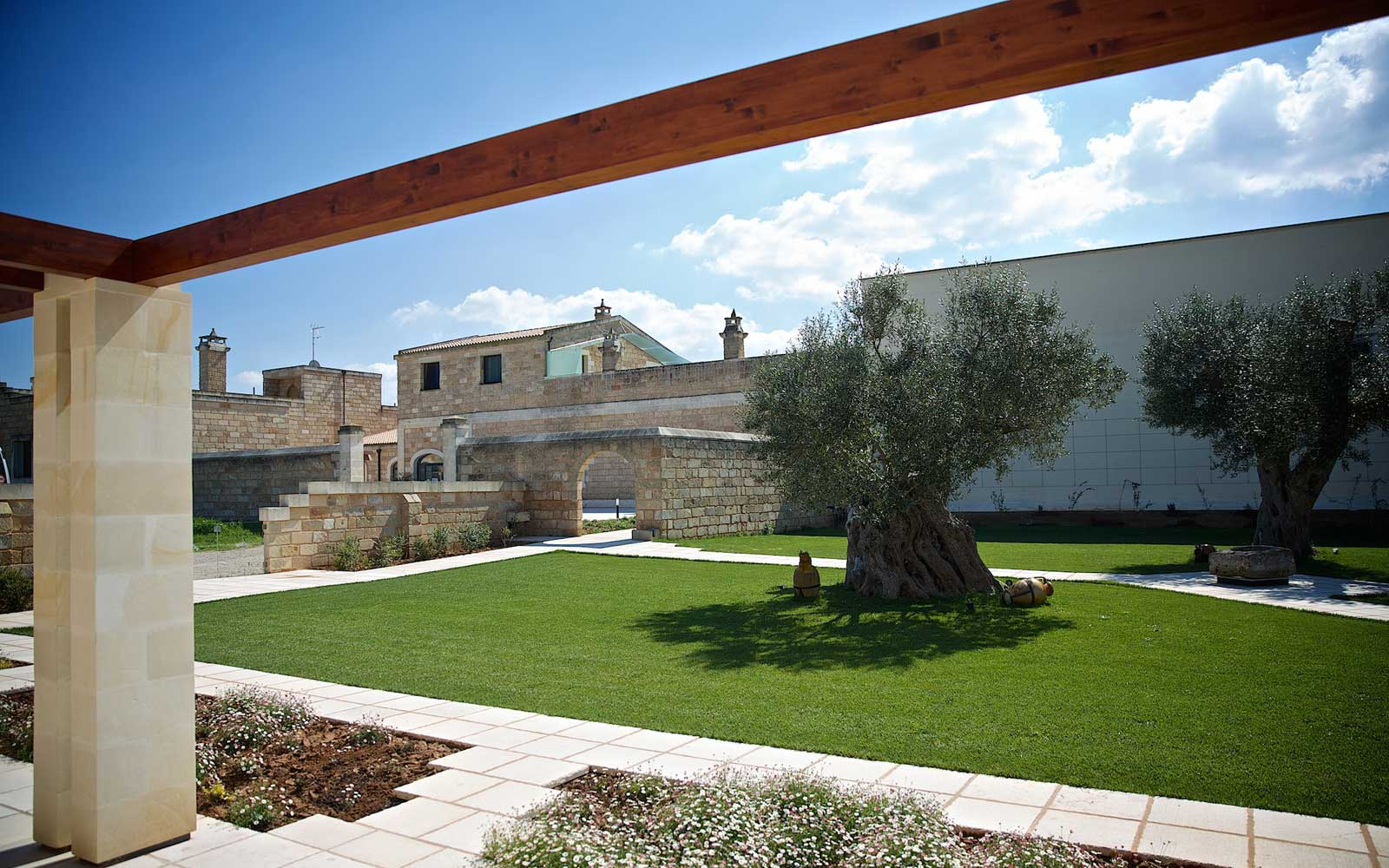 Courtyard at Masseria Stali