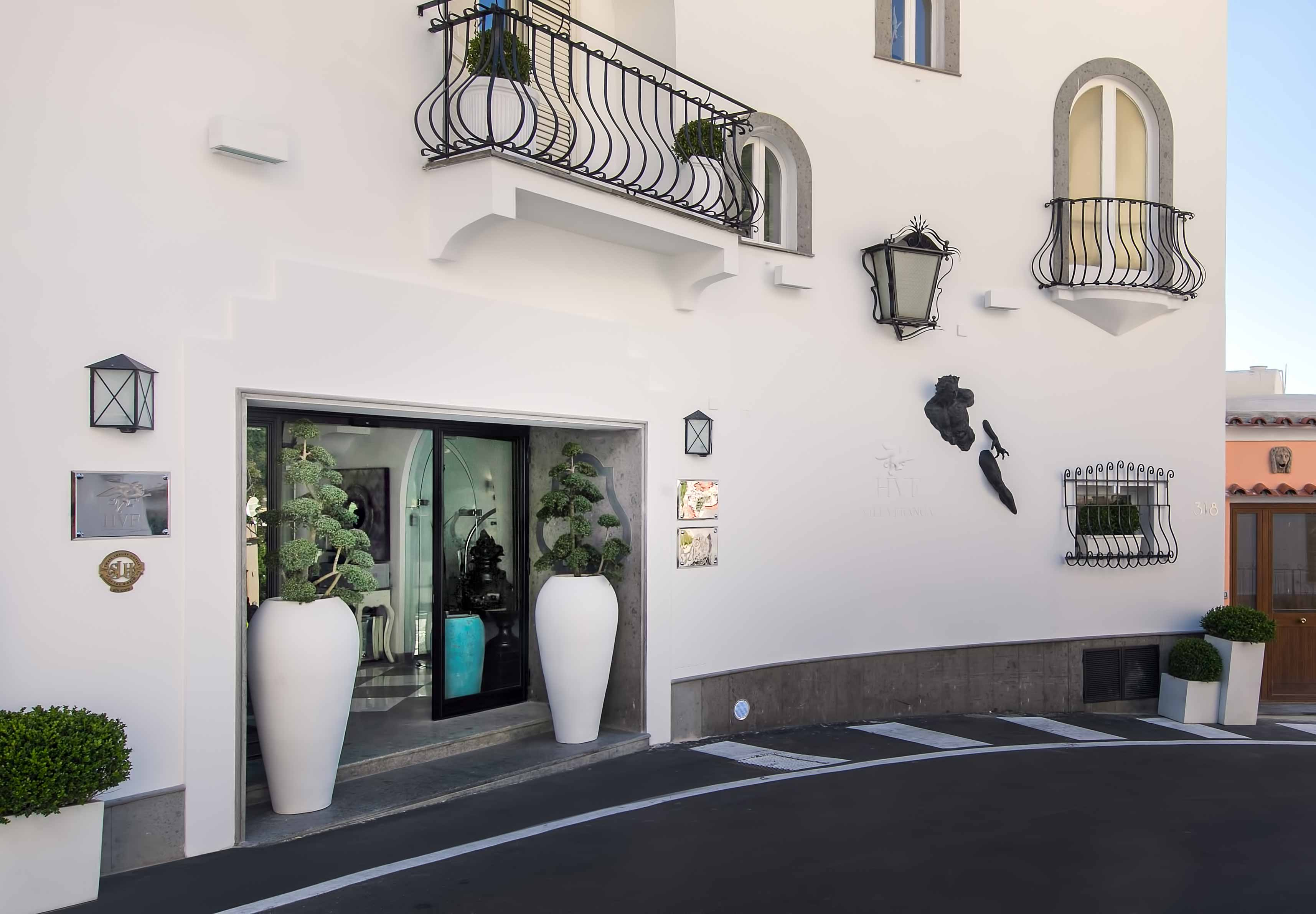 Entrance at the Hotel Villa Franca