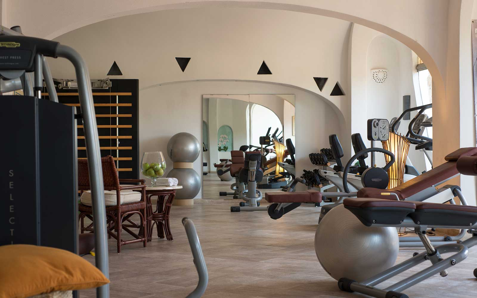 Fitness Room at Grand Hotel Poltu Quatu