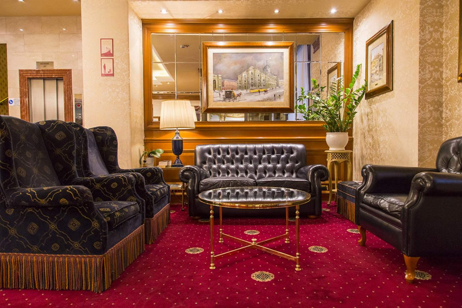 Lobby at Hotel Berna