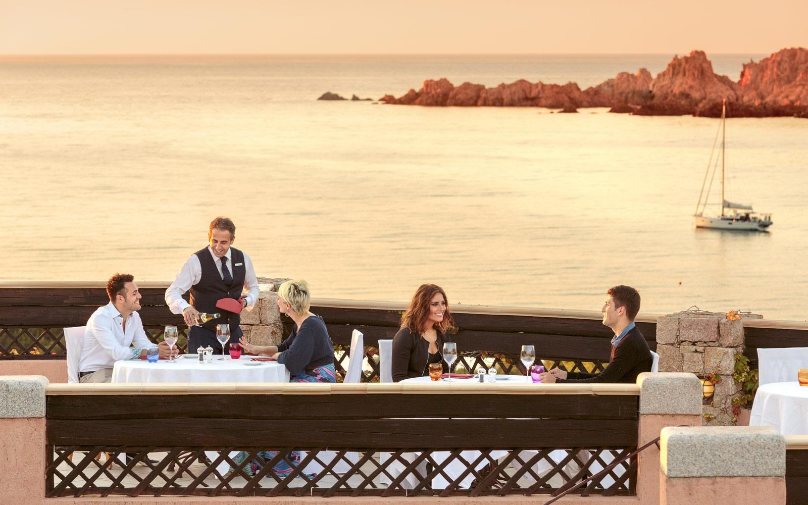 Tramonto restaurant at Hotel Marinedda Thalasso & Spa