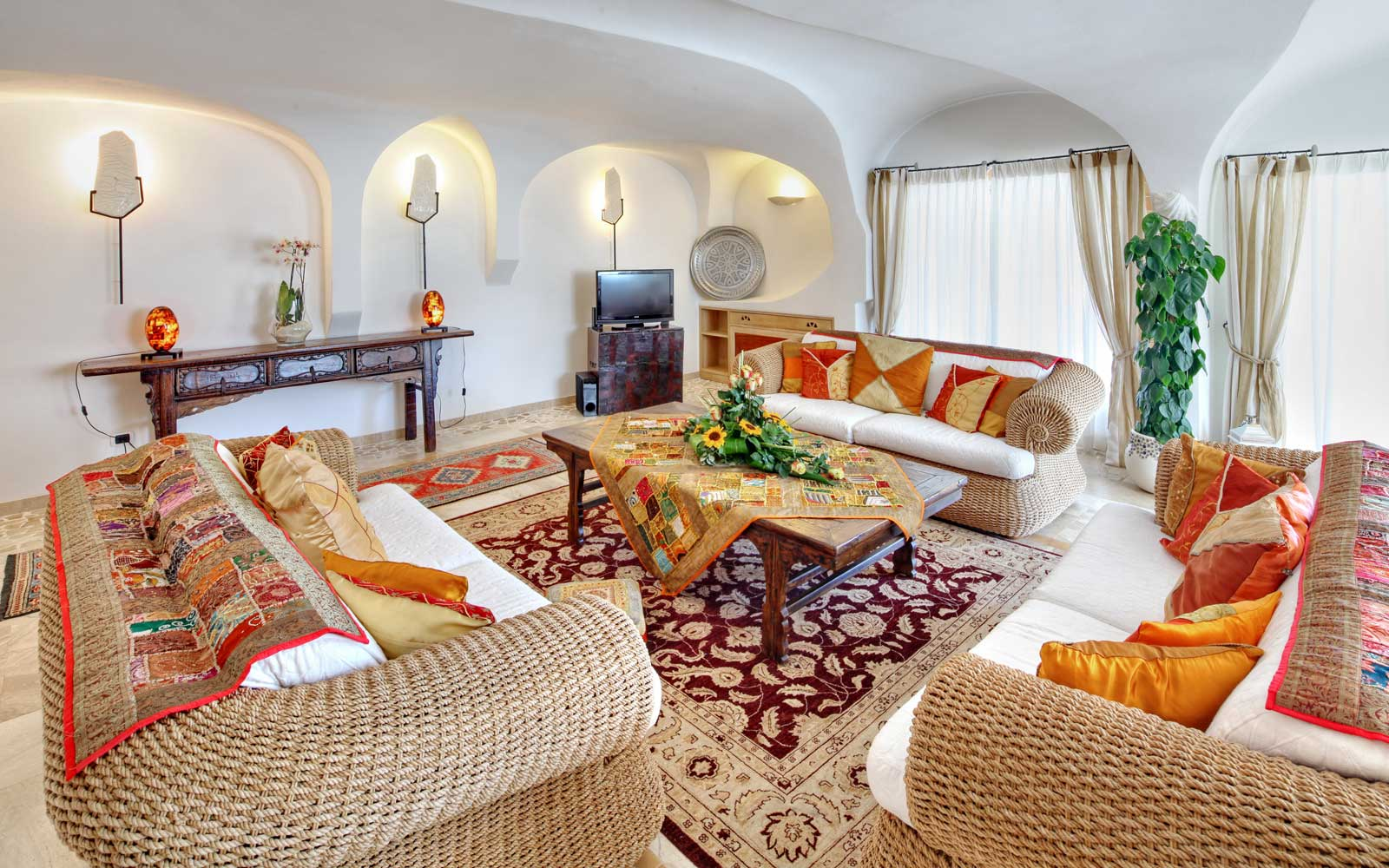 Presidential Suite Lounge Area at Grand Hotel Poltu Quatu