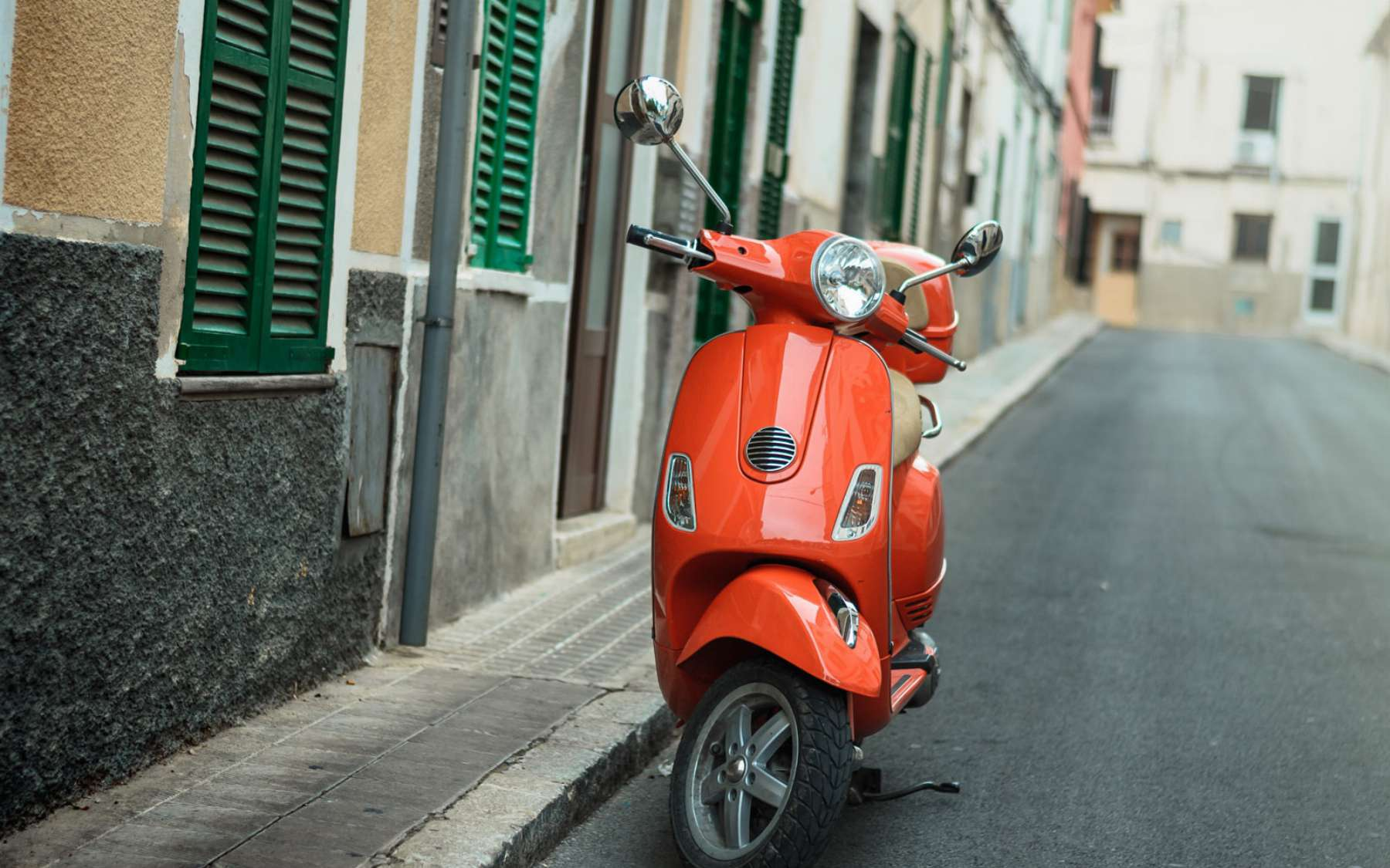 Red Scooter In Barcelona